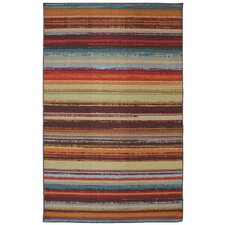 Outdoor Patio Avenue Stripe Area Rug