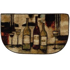 New Wave Wine And Glasses Novelty Rug