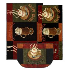 <strong>Mohawk Select</strong> New Wave Kitchen Caffe Latte Novelty Rug (Set of 3)
