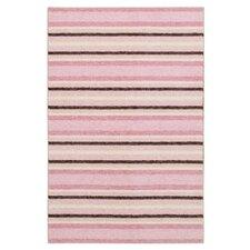 Woodgrain Cuddle Pink/Brown Area Rug