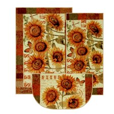 New Wave Kitchen Sunshine Seeds Rug (Set of 3)