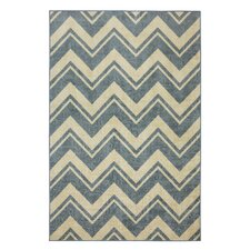 Strata Blue Lascala Chevron Stripe Area Rug