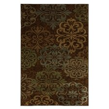 Cachet Brown Abstract Lace Rug
