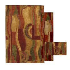 <strong>Mohawk Select</strong> New Wave Picasso Wine Rug (Set of 3)
