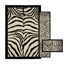 <strong>Mohawk Select</strong> New Wave Zebra Safarie Rug (Set of 3)