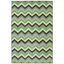 Outdoor Patio Woven Ginko Herringbone Indoor/Outdoor Area Rug