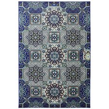 Outdoor Patio Woven Mosaic Fountain Wildaster Rug