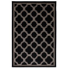Outdoor Patio Woven Black Parsonage Rug