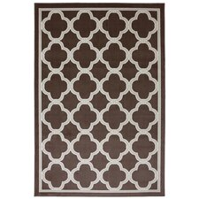 Outdoor Patio Woven Brown Parsonage Rug