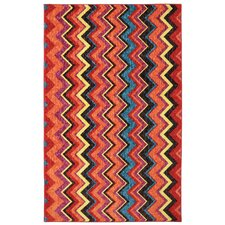 New Wave Ziggidy Red Area Rug