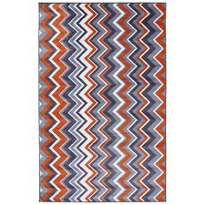 New Wave Ziggidy Orange Area Rug
