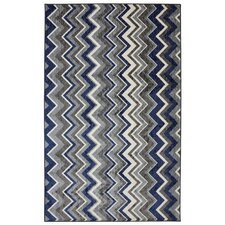 New Wave Blue Ziggidy Royal Rug