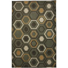 Cachet Honeycomb Shitake Gray Area Rug