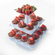 <strong>Chef Buddy</strong> 3 Tier Cupcake Dessert Stand Tray