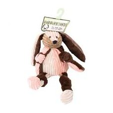 <strong>Hugglehounds</strong> Patchie Knottie Bunny Dog Toy in Multi