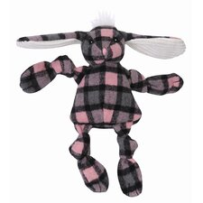 <strong>Hugglehounds</strong> Knottie Plaid Bunny Plush Dog Toy