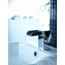 Kascade Single Hole Waterfall Bathroom Sink Faucet with Single Handle