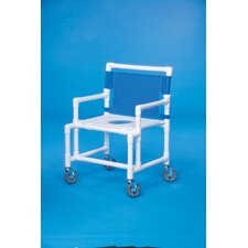 Oversize Shower Chair with Flat Seat
