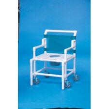 "Bariatric Shower Commode with 24"" Between Arms"