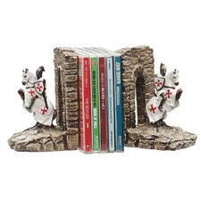 Knights of the Digital Realm Sculptural Book Ends (Set of 2)