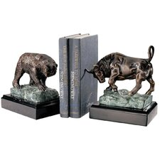 The Bull and Bear of Wall Street Book Ends (Set of 2)
