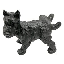 Naughty Peeing Scotty Dog Die-Cast Iron Doorstop and Book Ends