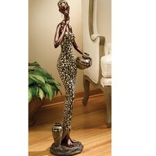 African Water Gatherer Statue