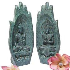 2 Piece Namaskara Mudra Buddha Hand Sculpture Set