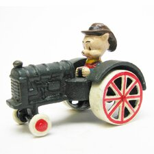 <strong>Design Toscano</strong> Farmer Pig Replica Farm Toy Tractor Figurine