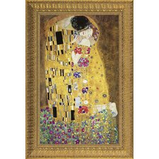 The Kiss, 1908 by Klimt Framed Painting Print