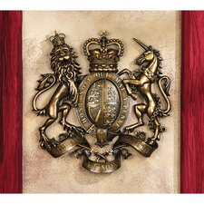 Royal Coat of Arms of Great Britain Wall Sculpture