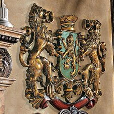 Heraldic Royal Lions Coat of Arms Wall Décor