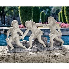 <strong>Design Toscano</strong> Ring Around The Rosie Dancing Little Girls Statue