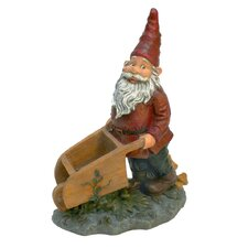 <strong>Design Toscano</strong> Wheeler with the Wheelbarrow Garden Gnome Statue