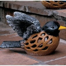 Birds of a Feather Robin Iron Candleholder