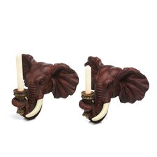 Elephant Wall Sconce (Set of 2)