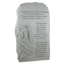I Thought of You with Love...Angel Memorial Garden Marker Stepping Stone