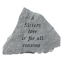 A Sisters Love...Cast Stone Memorial Garden Marker Stepping Stone