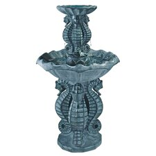 Spirit of the Ocean Seahorse Resin Tiered Fountain