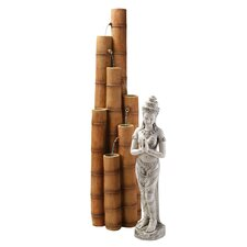 Cascading Bamboo Tiered Fountain