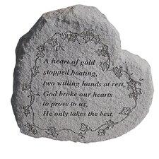 Heart of Gold...Memorial Garden Marker Stepping Stone