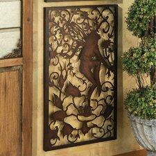 Secret Garden Fairy Vinedancer Metal Wall Decor