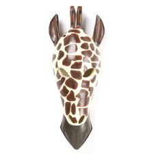 Tribal Style Giraffe Mask Wall Décor