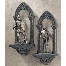 2 Piece Knights of the Realm 3-Dimensional Wall Décor Set
