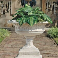 Larkin Arts and Crafts Architectural Garden Urn and Plinth Set