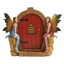 The Enchanted Portal Fairy Door Wall Statue