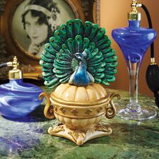 Preening Peacock Jewelry Box (Set of 2)