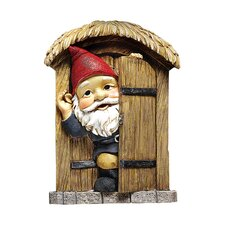 The Knothole Door Gnome Garden Welcome Tree Statue