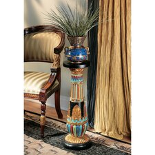 Regal Egyptian Luxor Pedestal Plant Stand