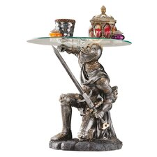 Battle Worthy Knight Sculptural End Table